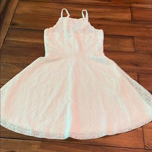 H&M Off-white Halter Fit & Flare Dress Size 2